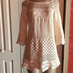 Cover up mesh dress